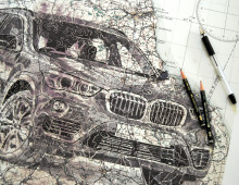 BMW Ad Illustrations
